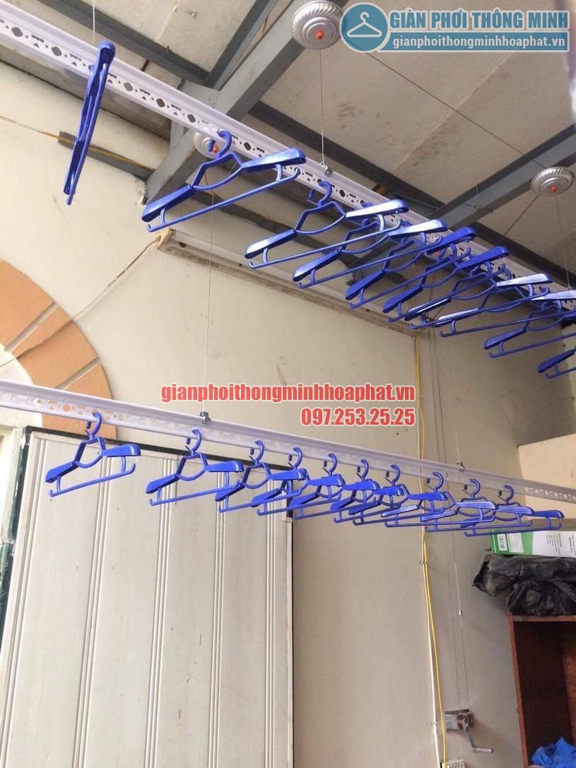 Lắp đặt giàn phơi thông minh nhà anh Doanh ngõ 65 phố Vạn Bảo, Ba Đình, Hà Nội-01