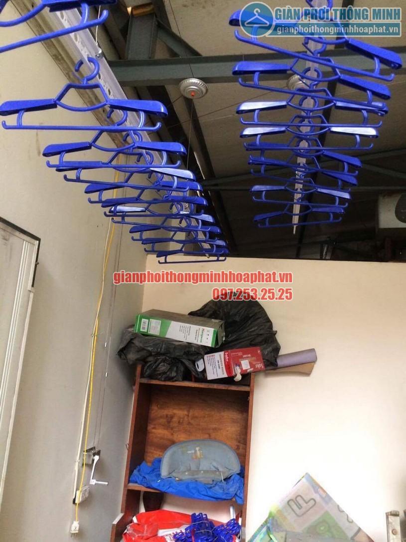 Lắp đặt giàn phơi thông minh nhà anh Doanh ngõ 65 phố Vạn Bảo, Ba Đình, Hà Nội-02