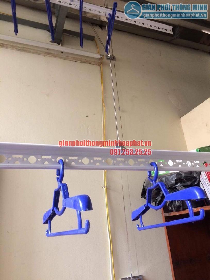 Lắp đặt giàn phơi thông minh nhà anh Doanh ngõ 65 phố Vạn Bảo, Ba Đình, Hà Nội-05
