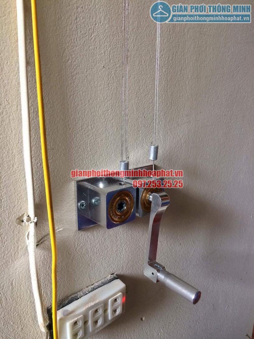 Bộ tời giàn phơi HP999B - là bộ tời tay quay liền dùng điều khiển 2 thanh phơi-01