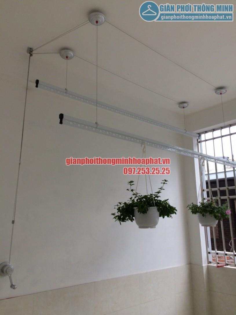Lắp đặt giàn phơi thông minh nhà anh Thắng chung cư The Pride, Hà Đông, Hà Nội-02