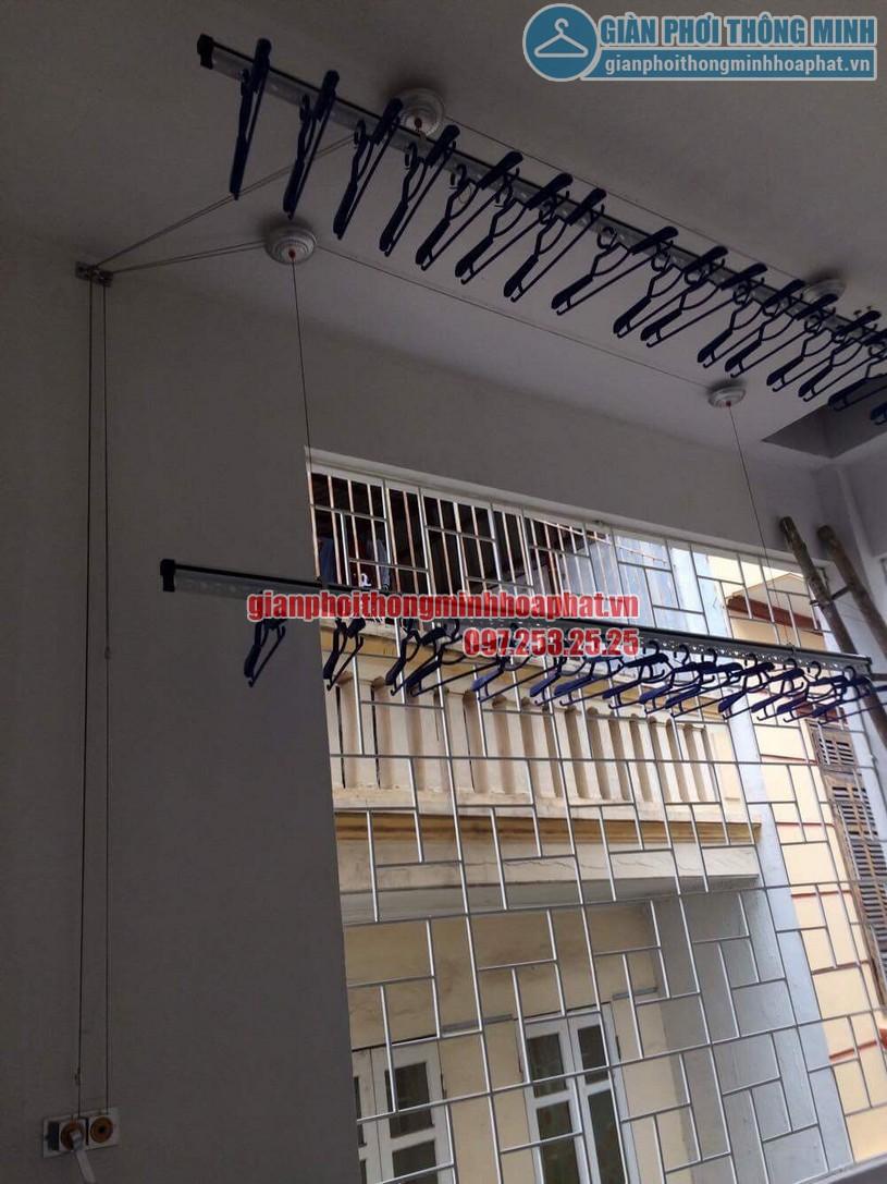 Lắp đặt giàn phơi thông minh nhà chị Trang Định Công Thượng, Hoàng Mai, Hà Nội-02