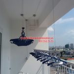 Lắp giàn phơi quận Tân Phú HCM – Nhà anh Dũng căn hộ 8X Đầm Sen