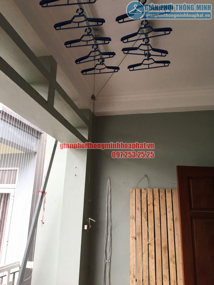Lắp đặt giàn phơi và lưới an toàn ban công nhà chị Trà My KĐT Mậu Lương, Kiến Hưng, Hà Đông-05