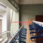 Lắp đặt giàn phơi và lưới an toàn ban công nhà chị Trà My KĐT Mậu Lương, Kiến Hưng, Hà Đông
