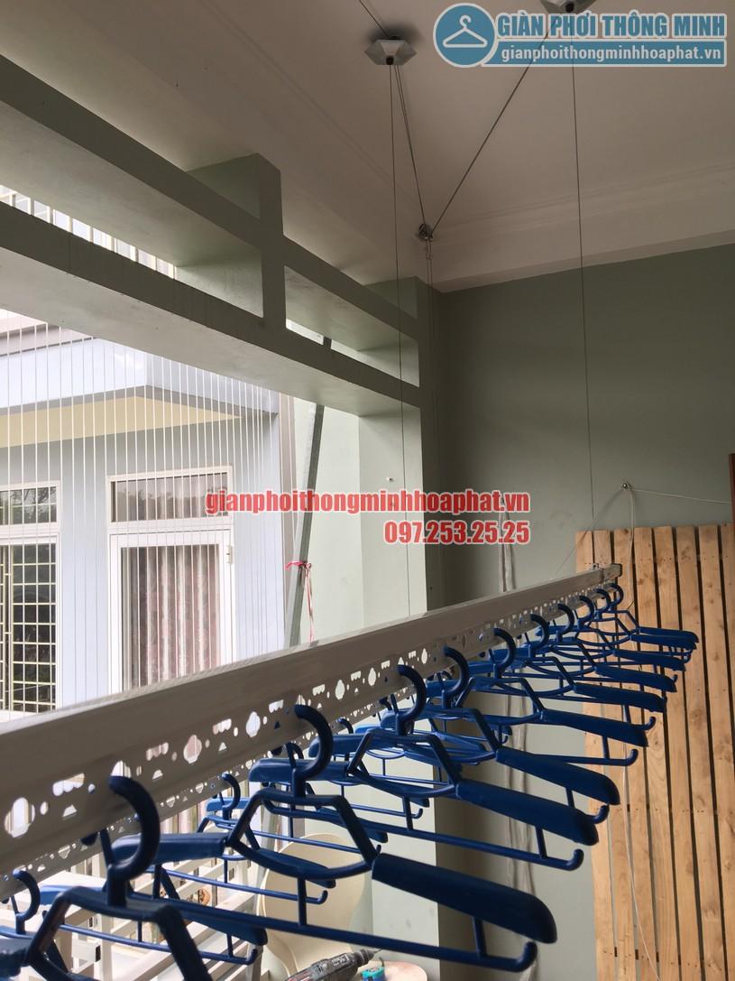 Lắp đặt giàn phơi và lưới an toàn ban công nhà chị Trà My KĐT Mậu Lương, Kiến Hưng, Hà Đông-02