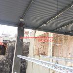 Lắp giàn phơi thông minh trên nền trần mái tôn nhà chị Minh ngõ 7, Tô Hiệu, Hà Đông