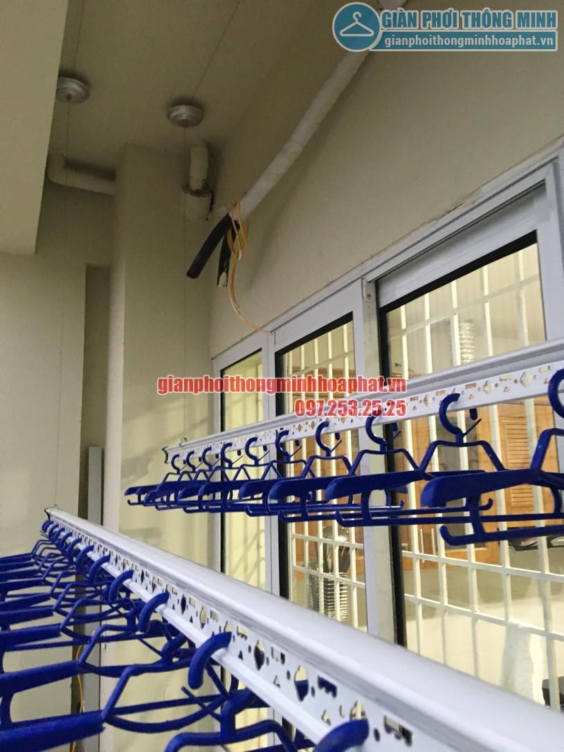Lắp giàn phơi và lưới an toàn ban công chung cư nhà chị Quỳnh Tây Tựu, Bắc Từ Liêm-01