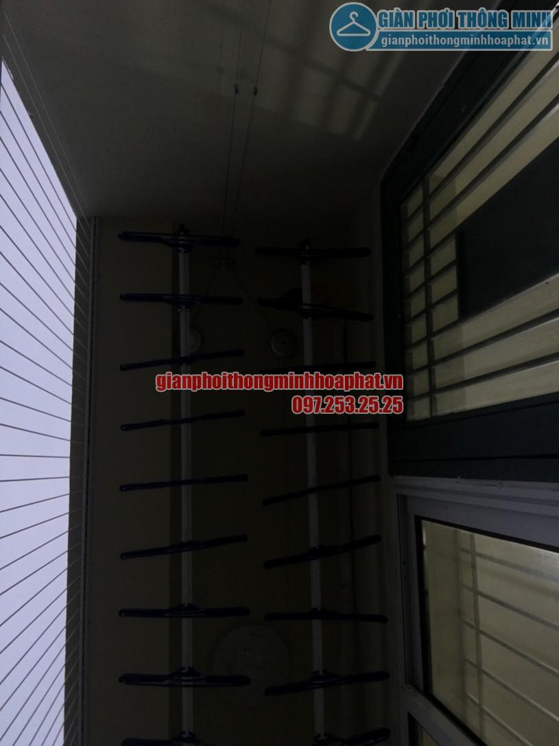 Lắp giàn phơi và lưới an toàn ban công chung cư nhà chị Quỳnh Tây Tựu, Bắc Từ Liêm-04