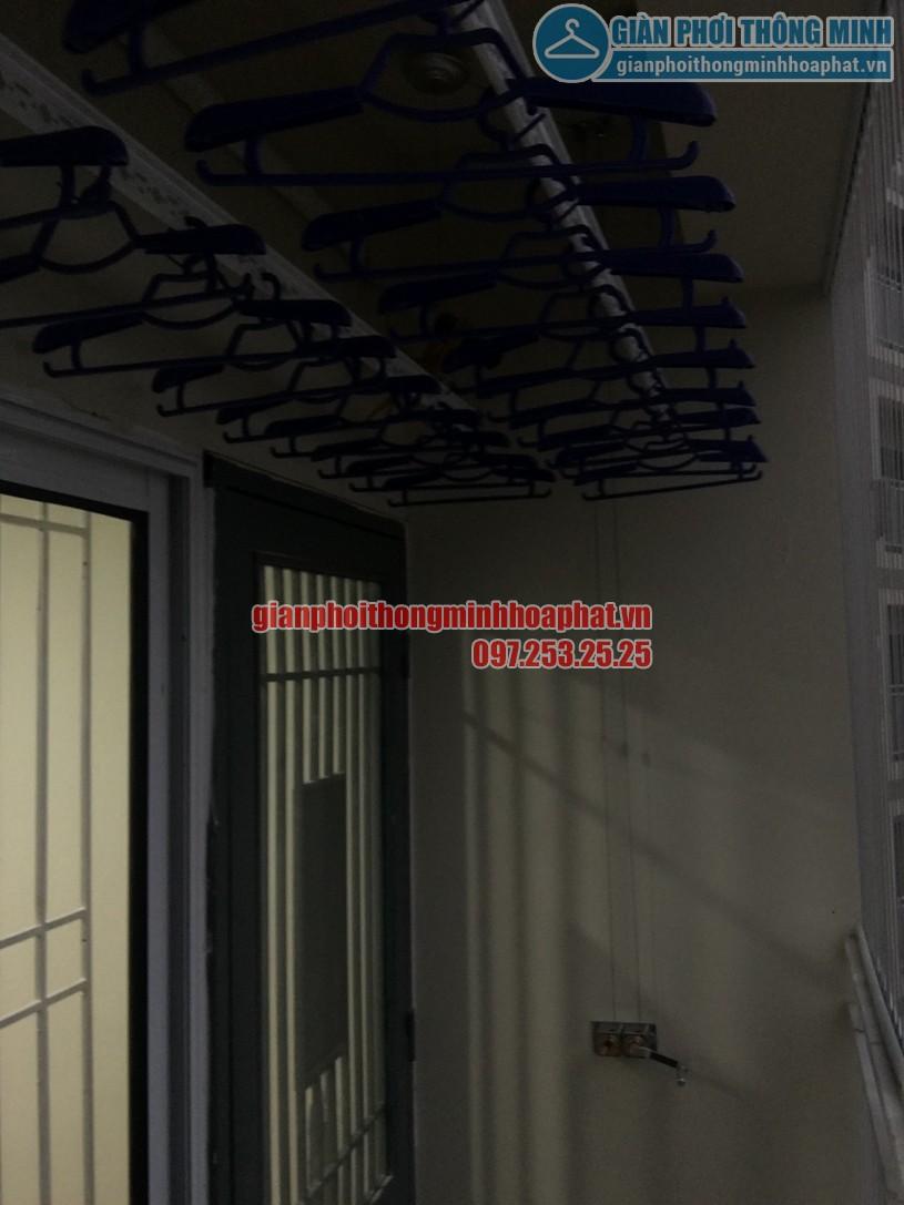 Lắp giàn phơi và lưới an toàn ban công chung cư nhà chị Quỳnh Tây Tựu, Bắc Từ Liêm-05