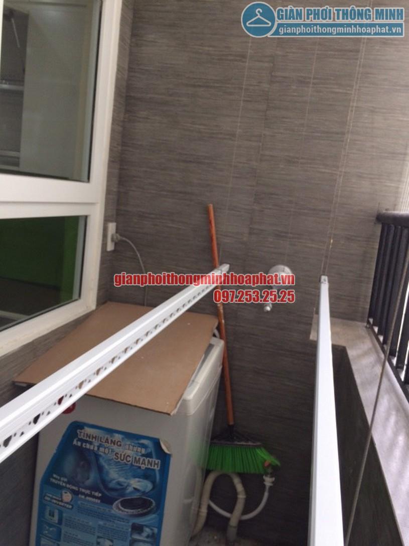 Lắp giàn phơi và lưới an toàn ban công nhà chú Tuyến quận Ba Đình, Hà Nội-02