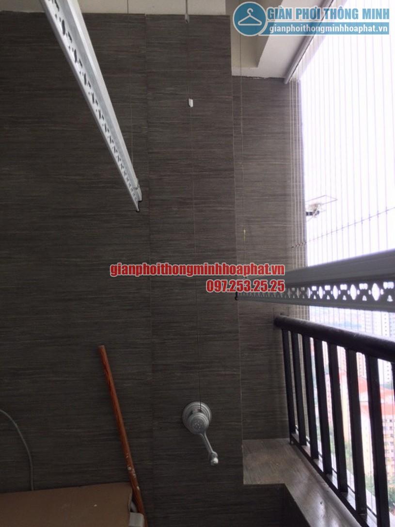 Lắp giàn phơi và lưới an toàn ban công nhà chú Tuyến quận Ba Đình, Hà Nội-04