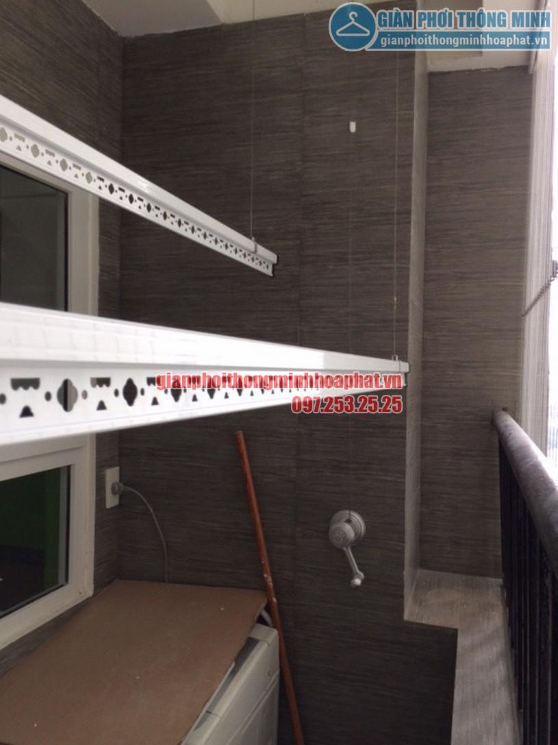 Lắp giàn phơi và lưới an toàn ban công nhà chú Tuyến quận Ba Đình, Hà Nội-05