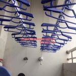 Lắp giàn phơi và lưới an toàn ban công nhà chú Thắng P6 tầng 14 Tháp A, Hà Thanh, Thái Thịnh