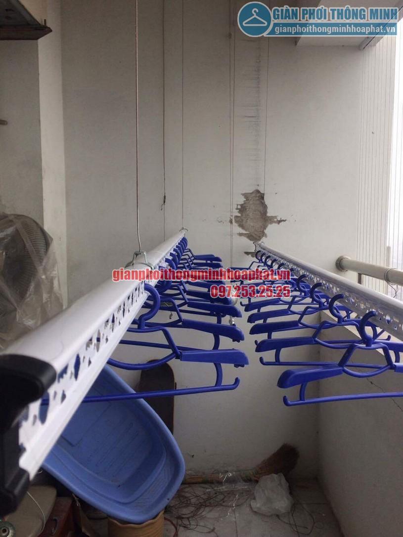 Lắp đặt lưới an toàn ban công chung cư nhà chú Chiến