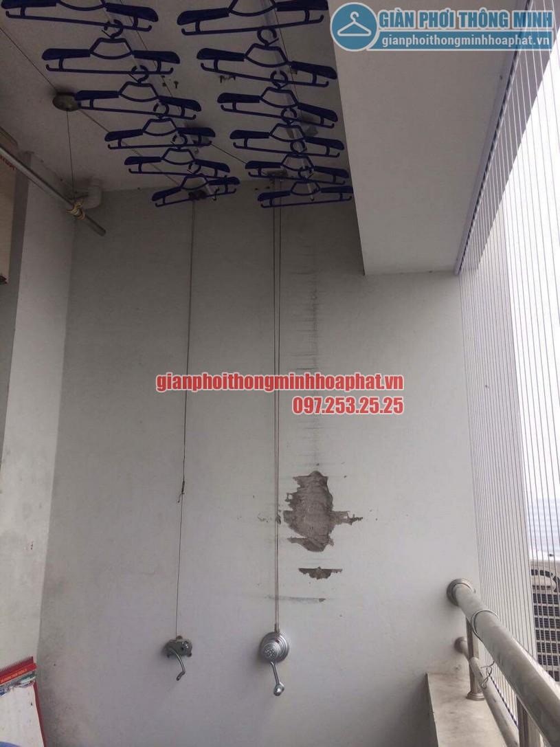 Lắp giàn phơi và lưới an toàn ban công nhà chú Thắng P6 tầng 14 Tháp A, Hà Thanh, Thái Thịnh-03