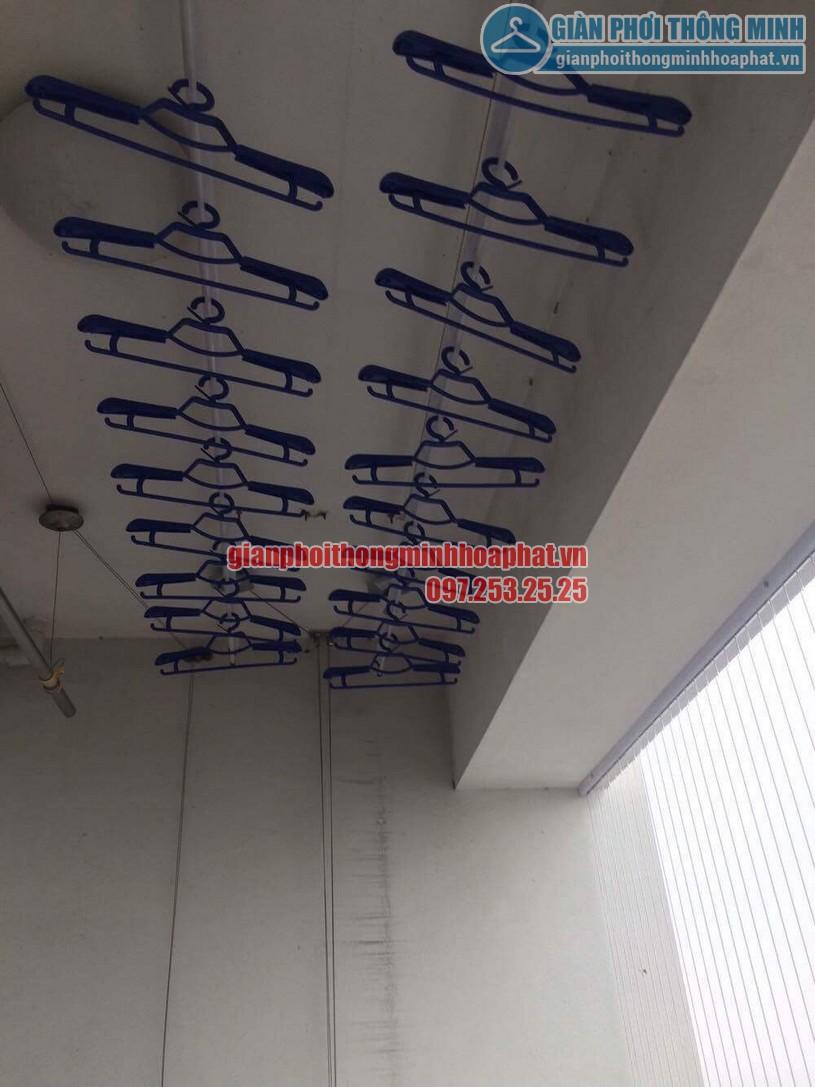 Lắp giàn phơi và lưới an toàn ban công nhà chú Thắng P6 tầng 14 Tháp A, Hà Thanh, Thái Thịnh-04