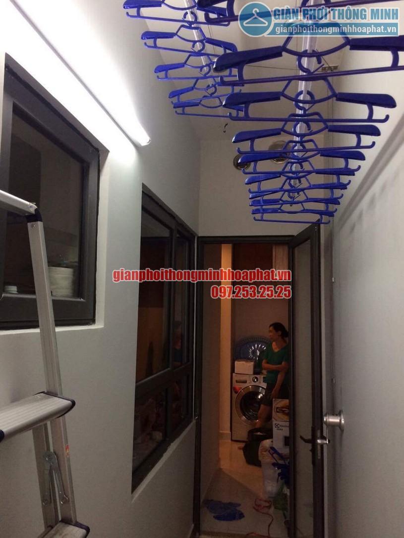 Lô gia gọn gàng với giàn phơi nhà chị Loan căn S8-12- CT3- chung cư The One - Gamuda-Yên Sở-05