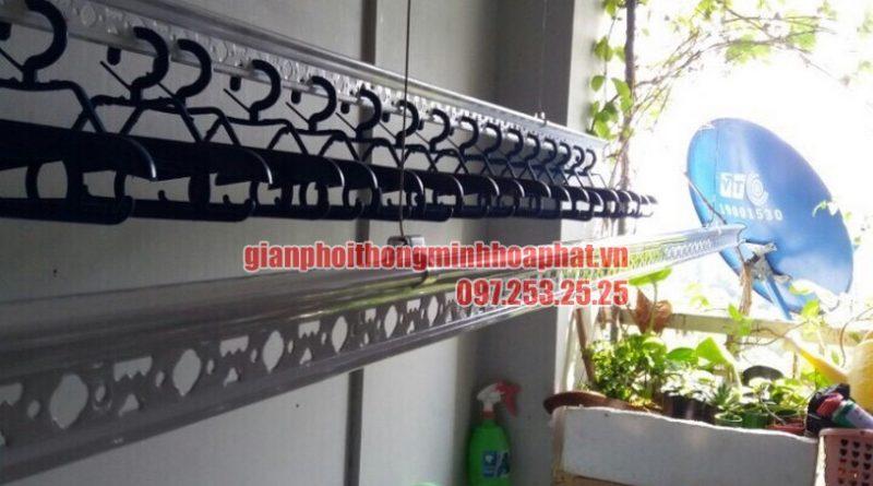 Ngắm bộ giàn phơi thông minh HP950 tại lô gia nhà anh Tuấn chung cư Hai Thành, Bình Tân