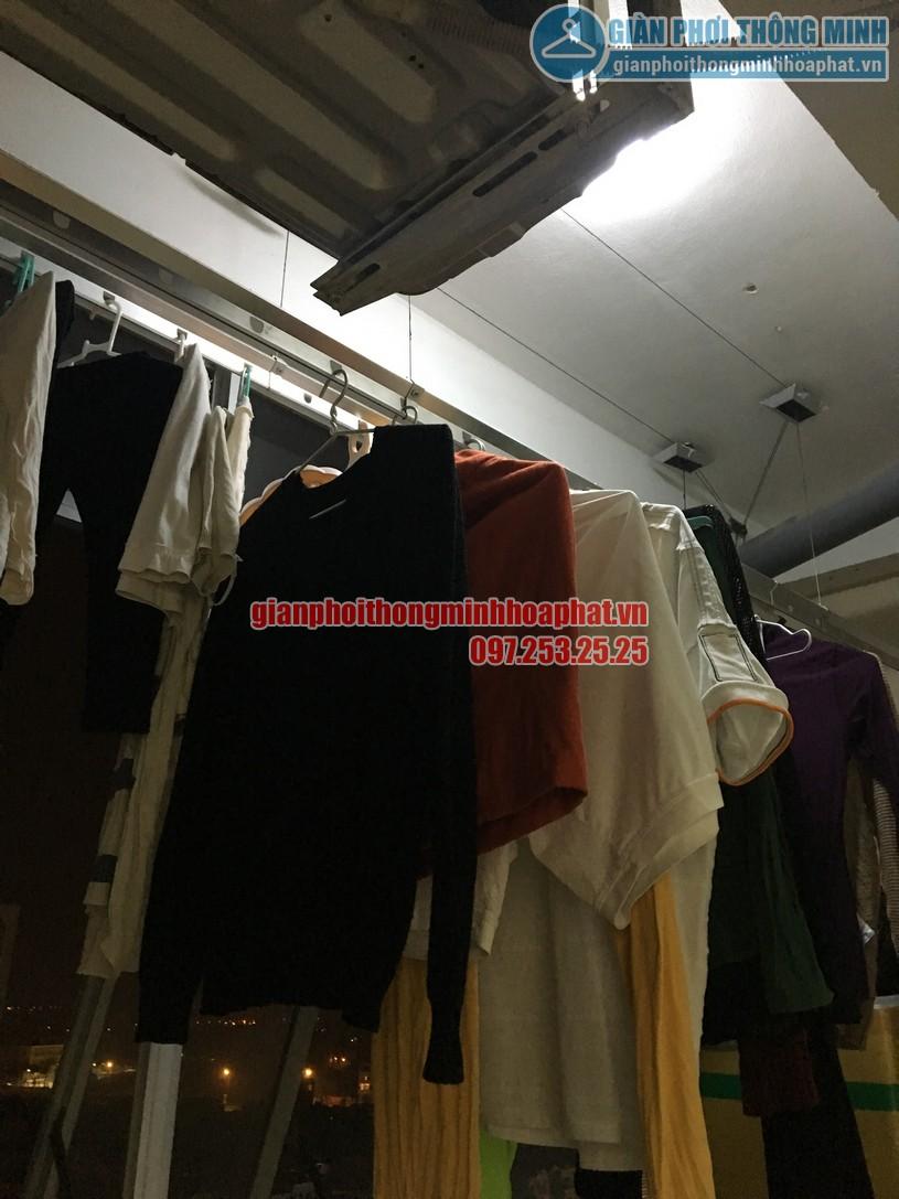 Sửa giàn phơi quần áo thông minh ở chung cư học viện Hậu Cần, phường Ngọc Thụy, Long Biên-01