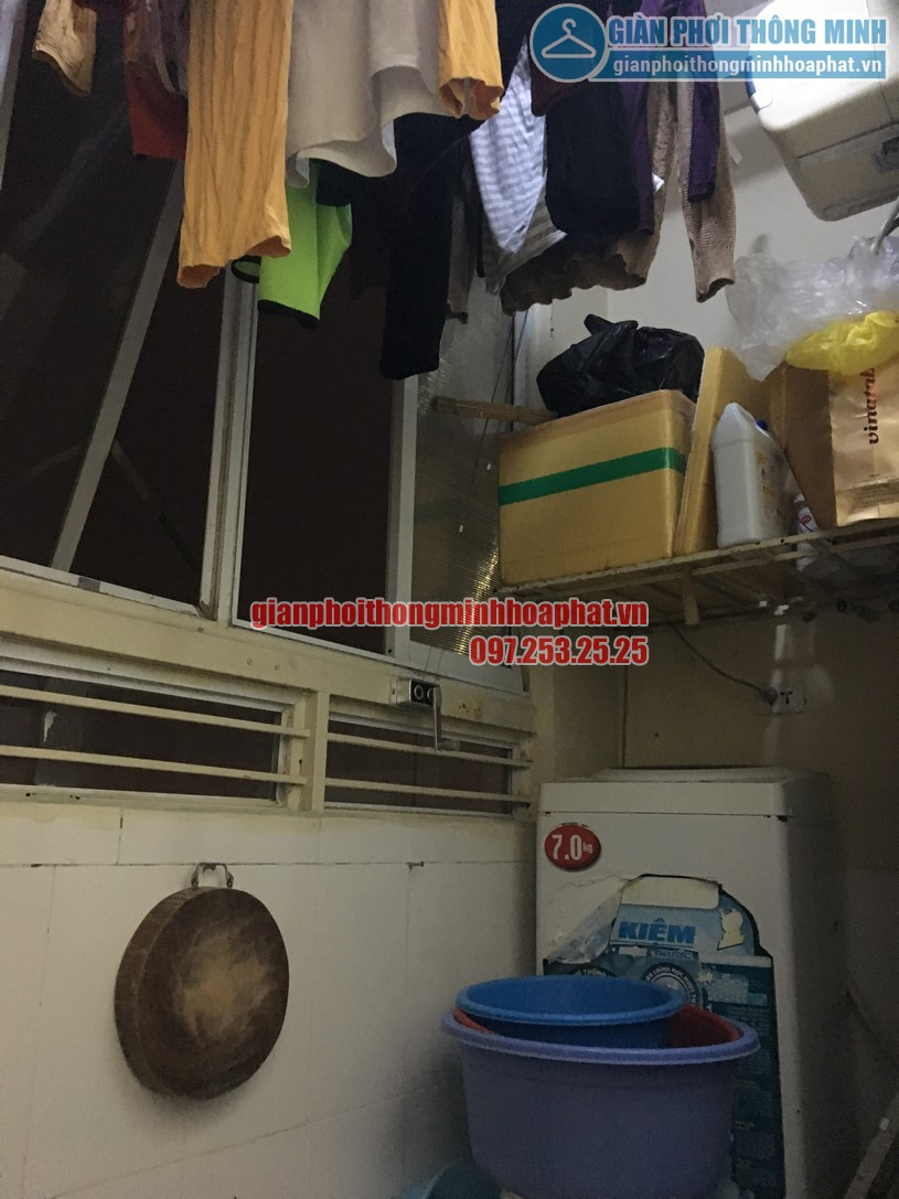 Sửa giàn phơi quần áo thông minh ở chung cư học viện Hậu Cần, phường Ngọc Thụy, Long Biên-02