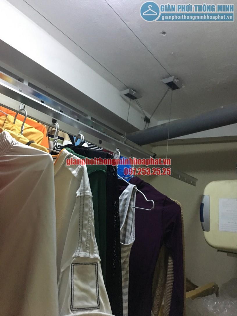 Sửa giàn phơi quần áo thông minh ở chung cư học viện Hậu Cần, phường Ngọc Thụy, Long Biên-05