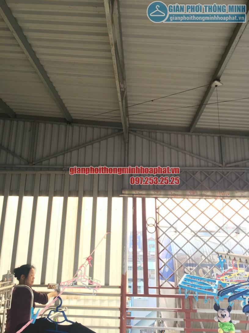 Thay củ quay giàn phơi thông minh nhà cô Chinh ngõ 117 Thái Hà, Đống Đa, Hà Nội-05