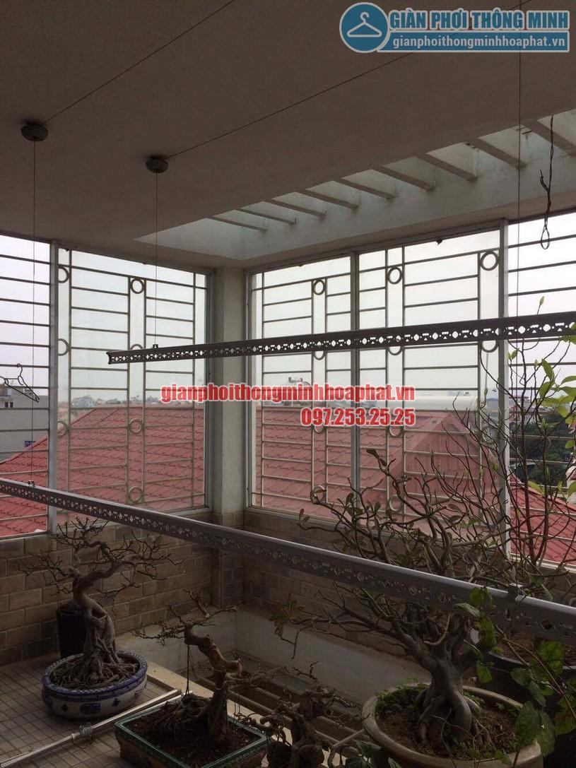 Thay dây cáp giàn phơi nhà chị Oanh số 1 ngõ 69 phố Tư Đình, Long Biên, Gia Lâm, Hà Nội-01