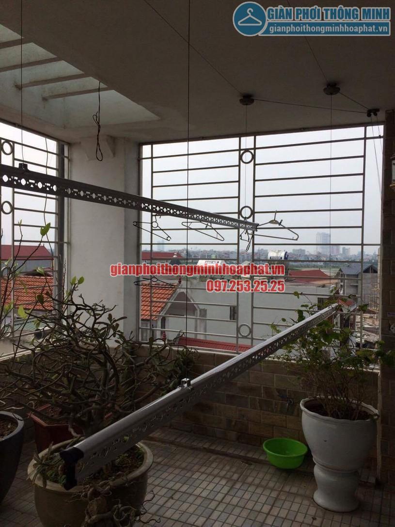 Thay dây cáp giàn phơi nhà chị Oanh số 1 ngõ 69 phố Tư Đình, Long Biên, Gia Lâm, Hà Nội-04