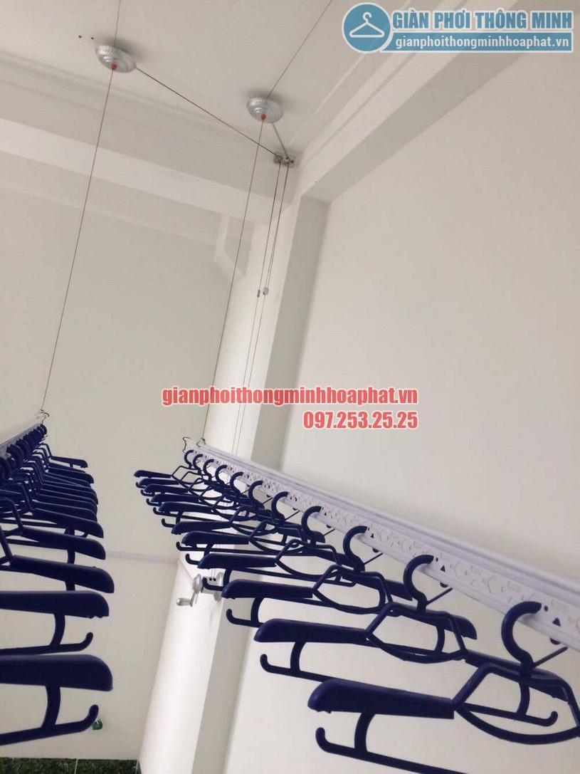 Thi công lắp đặt giàn phơi quần áo nhà chị Hằng số 15 ngõ 25 Vũ Ngọc Phan, Láng Hạ, Đống Đa, Hà Nội-01