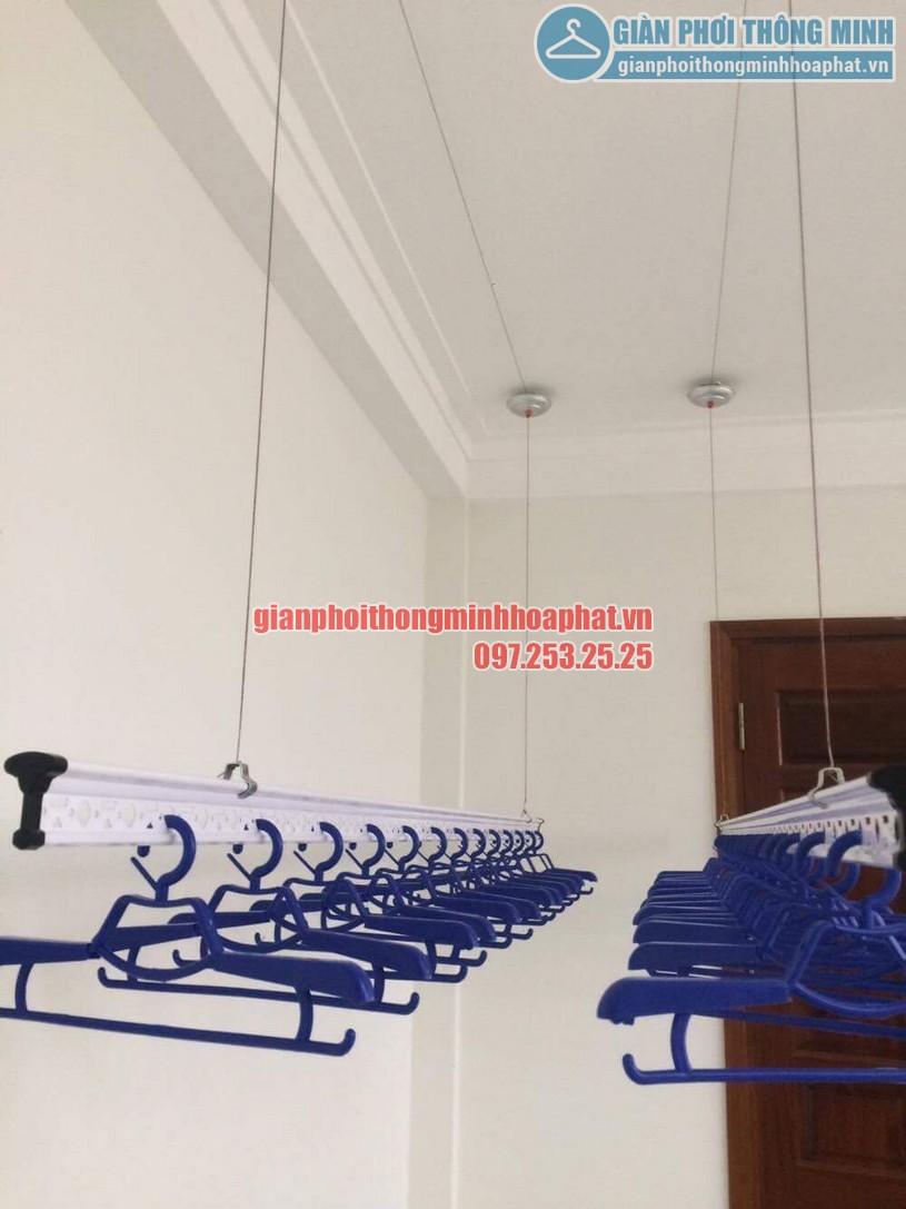 Thi công lắp đặt giàn phơi quần áo nhà chị Hằng số 15 ngõ 25 Vũ Ngọc Phan, Láng Hạ, Đống Đa, Hà Nội