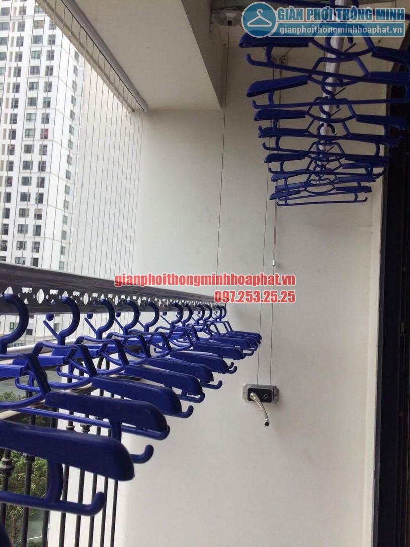 Thi công lắp đặt giàn phơi thông minh nhà chị Hồng P1505, Tầng 4, Time City