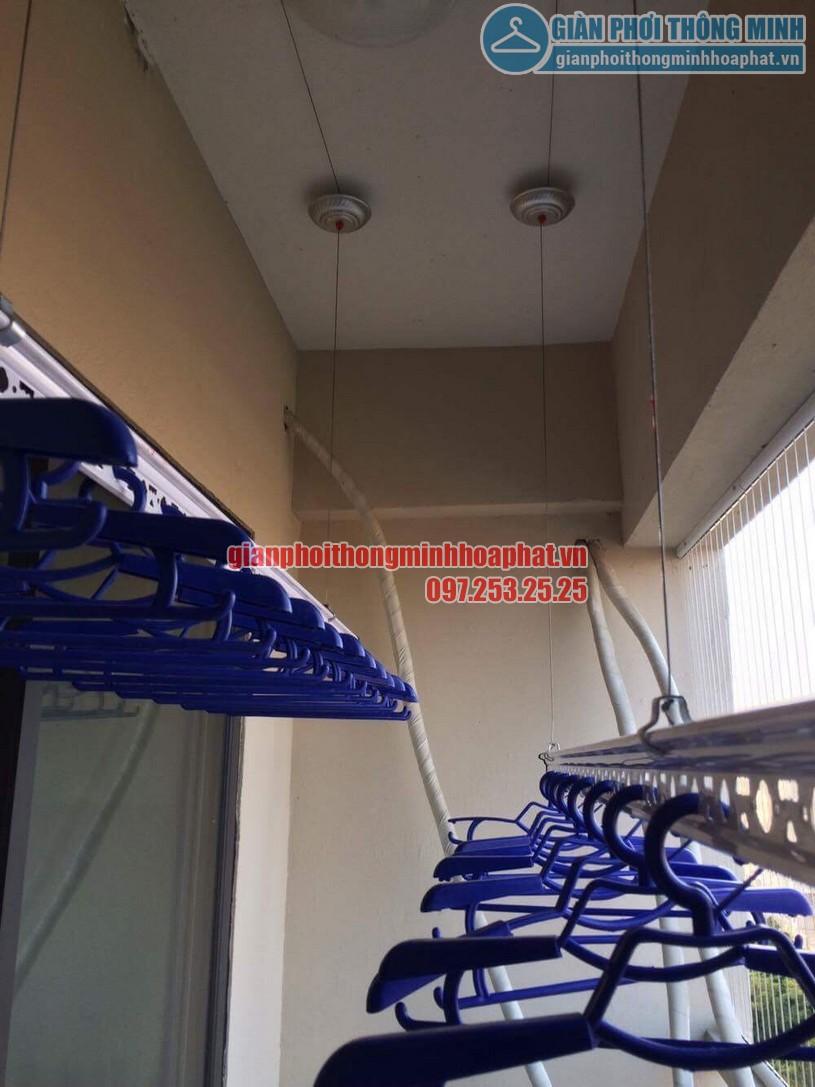 Thi công lắp đặt giàn phơi và lưới an toàn nhà chú Đức P906 CT7A khu đô thị Đặng Xá, Gia Lâm-05