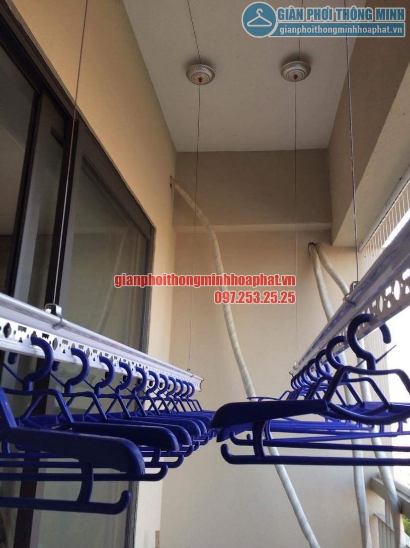 Thi công lắp đặt giàn phơi và lưới an toàn nhà chú Đức P906 CT7A khu đô thị Đặng Xá, Gia Lâm-03