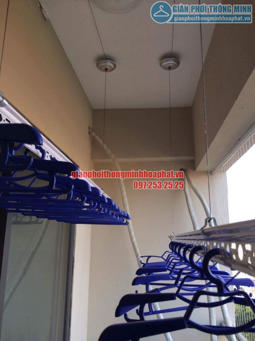 Thi công lắp đặt giàn phơi và lưới an toàn nhà chú Đức P906 CT7A khu đô thị Đặng Xá, Gia Lâm-02