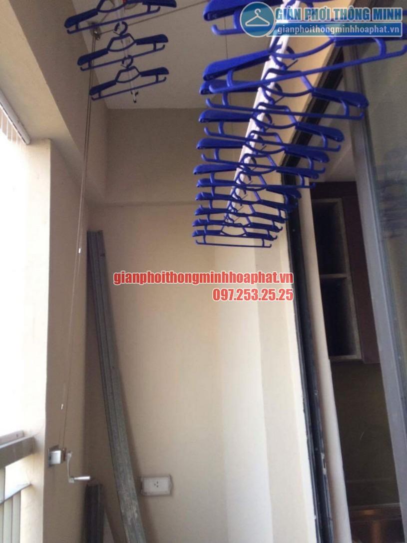 Thi công lắp đặt giàn phơi và lưới an toàn nhà chú Đức P906 CT7A khu đô thị Đặng Xá, Gia Lâm-01