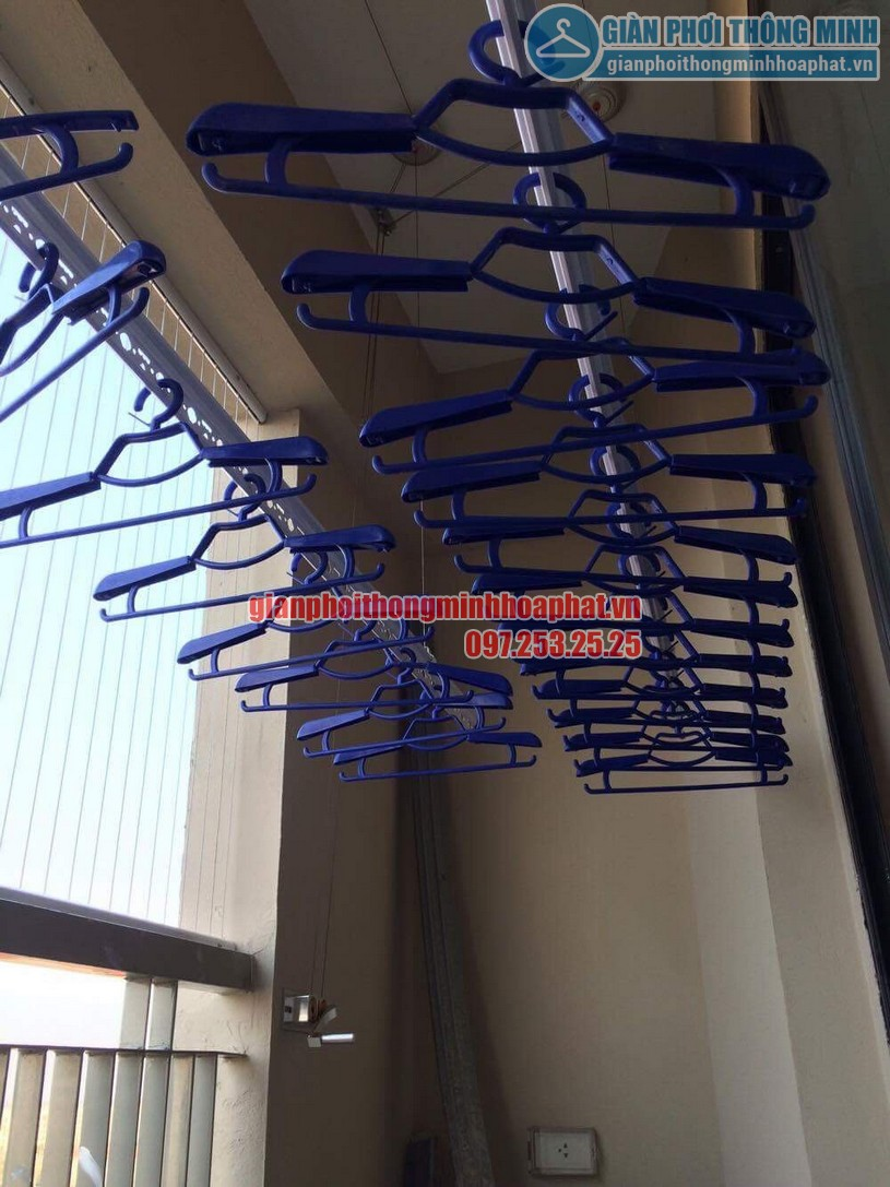 Bộ tời giàn phơi HP999b được đặt cố định tường phía ngoài làm nhiệm vụ điều khiển giàn phơi-01