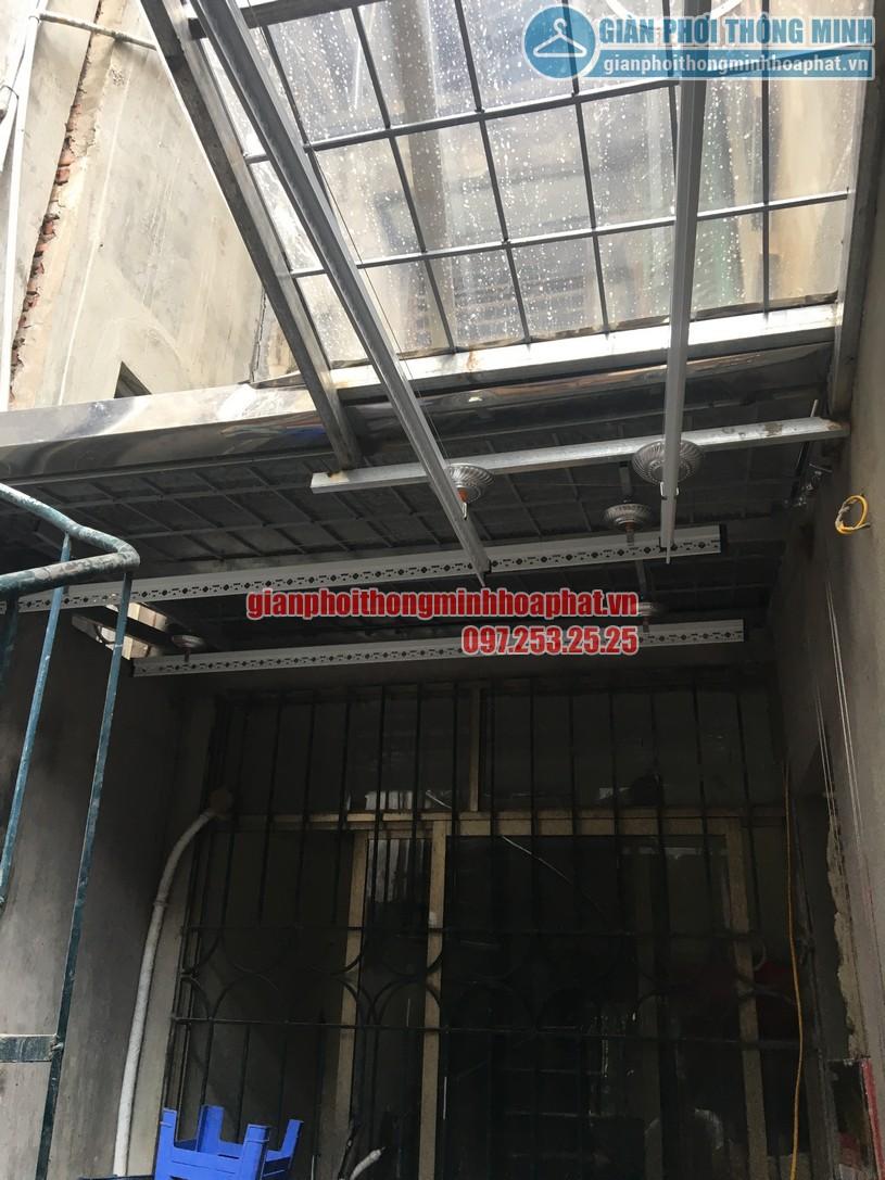 Hoàn thiện lắp đặt 2 bộ giàn phơi HP950 nhà anh Hưng khu TT HVKTQS, Xã Đàn-01