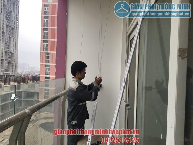 Bàn giao bộ giàn phơi HP888B nhà anh Long chung cư CT1 Usilk City tòa 102 quận Hà Đông-01