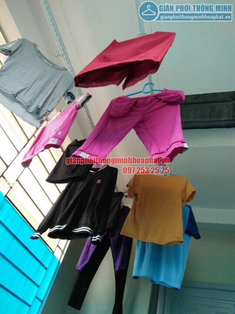 Không gian gọn gàng nhờ lắp giàn phơi nhà chị Quỳnh ngõ 243 phố Nam Dư, Lĩnh Nam-01