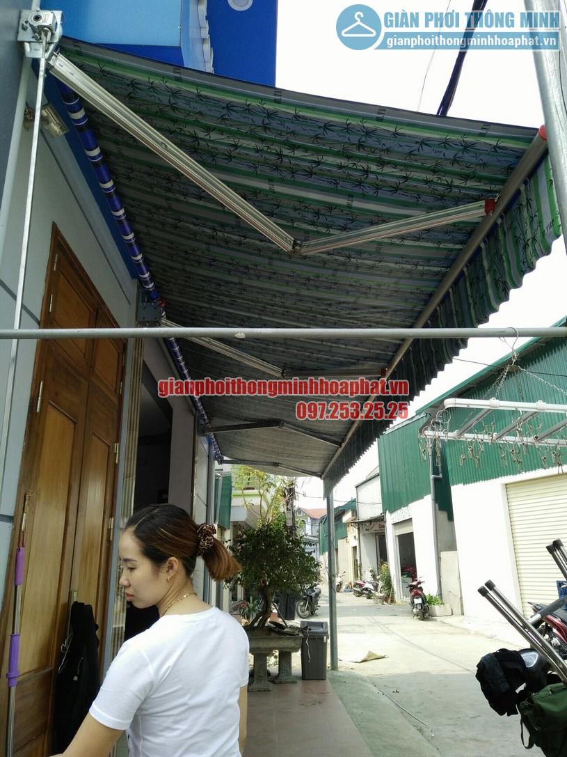 Hoàn thiện lắp đặt bạt mái hiên che nắng mưa tại nhà chị Quỳnh Thường Tín, Hà Nội-01