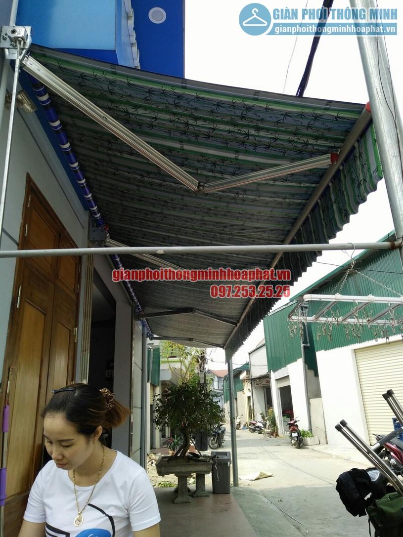 Hoàn thiện lắp đặt bạt mái hiên che nắng mưa tại nhà chị Quỳnh Thường Tín, Hà Nội-02