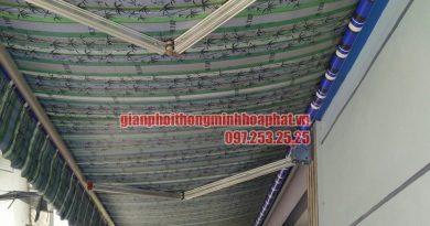 Hoàn thiện lắp đặt bạt mái hiên che nắng mưa tại nhà chị Quỳnh Thường Tín, Hà Nội