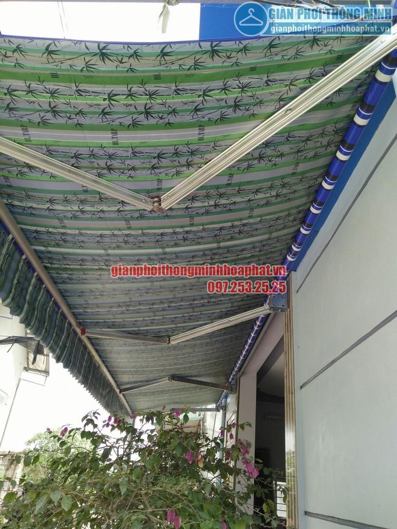 Hoàn thiện lắp đặt bạt mái hiên che nắng mưa tại nhà chị Quỳnh Thường Tín, Hà Nội-03