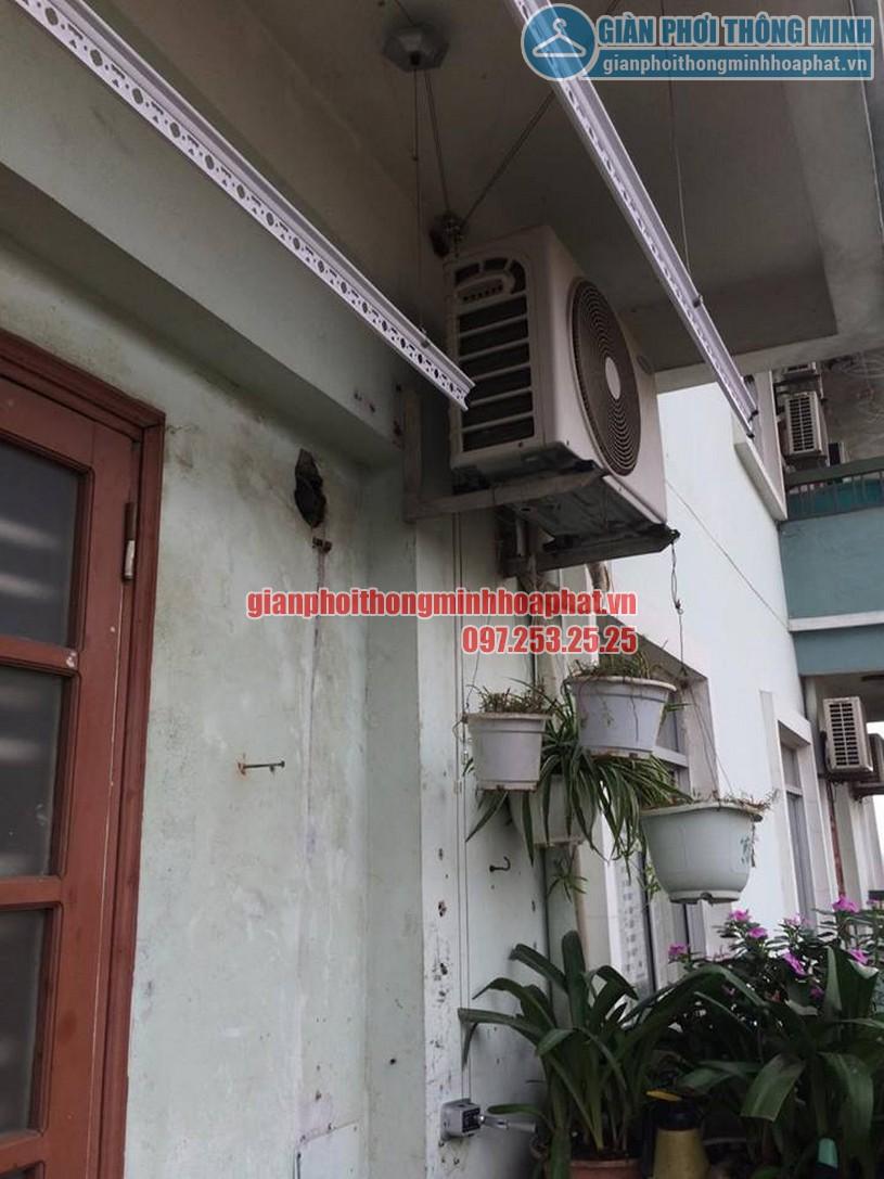 Lắp bộ giàn phơi đồ thông minh giá rẻ nhà bác Khánh chung cư HH3, KĐT Linh Đàm, Hoàng Mai-05