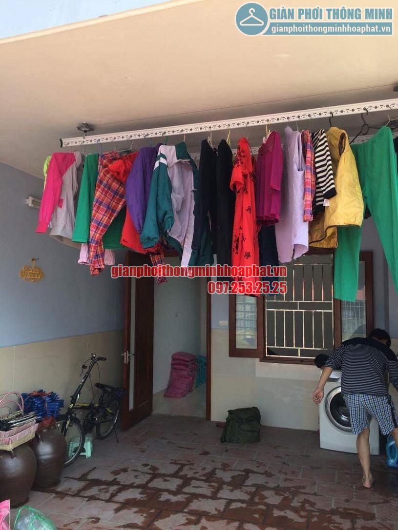 Lắp đặt bộ giàn phơi HP950 nhà chú Cường ngõ 22 phường Lương Khánh Thiện, Hoàng Mai-05