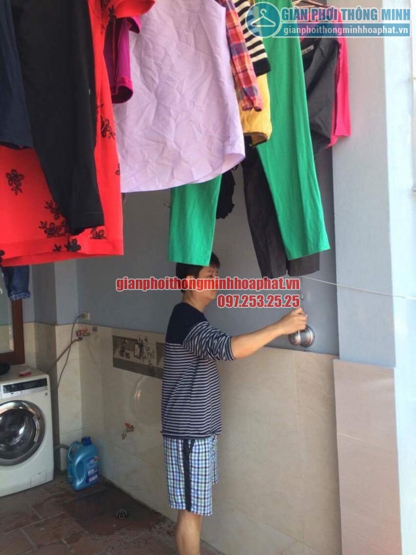 Lắp đặt bộ giàn phơi HP950 nhà chú Cường ngõ 22 phường Lương Khánh Thiện, Hoàng Mai-04