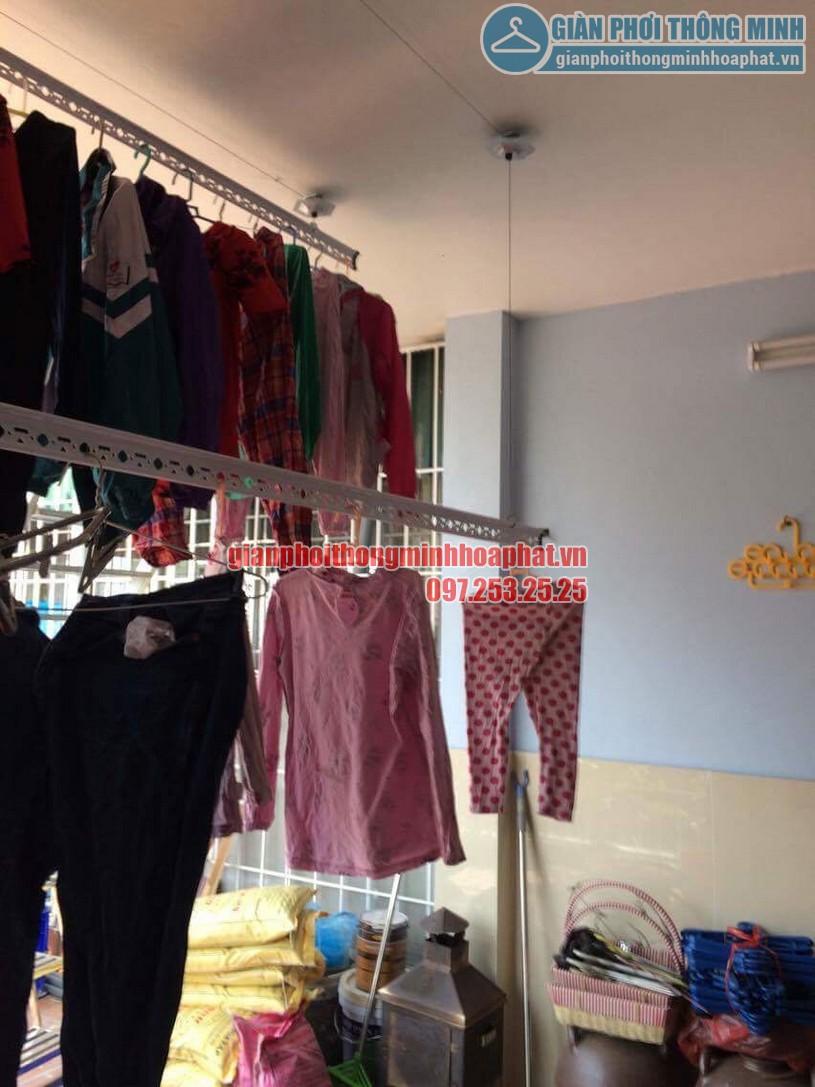 Lắp đặt bộ giàn phơi HP950 nhà chú Cường ngõ 22 phường Lương Khánh Thiện, Hoàng Mai-03