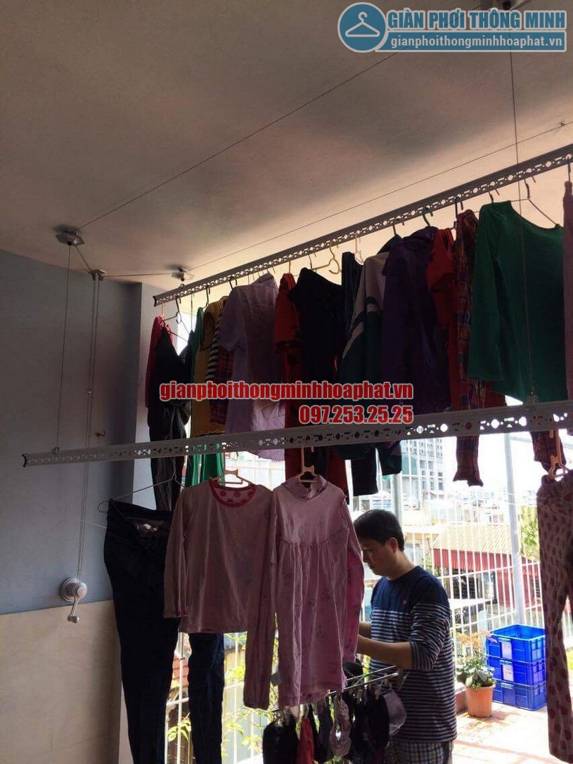 Lắp đặt bộ giàn phơi HP950 nhà chú Cường ngõ 22 phường Lương Khánh Thiện, Hoàng Mai-02