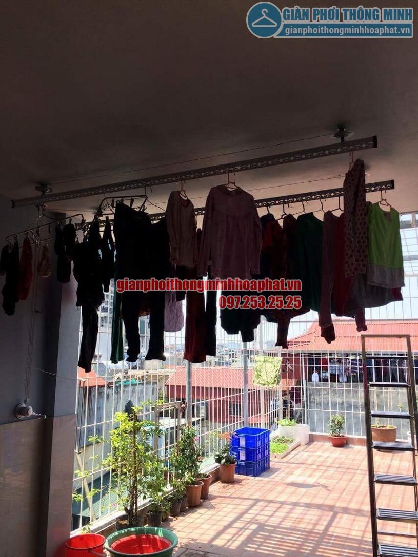 Lắp đặt bộ giàn phơi HP950 nhà chú Cường ngõ 22 phường Lương Khánh Thiện, Hoàng Mai-01